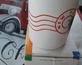 Vintage 1993 New York Color Magic Mug/Taxi Driver Car Wreck/Never Used/With Box