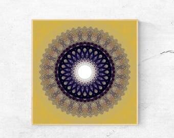 Printable mandala wall art, Digital mandala print, Mandala wall decor, Large printable mandala, Large art print, Modern mandala wall hanging