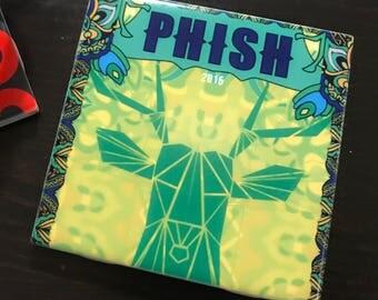 Phish Phan Antelope Ceramic Drink Coaster Cork Back