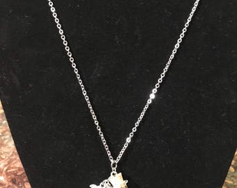 Wish bottle necklace with charms