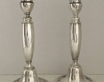 GMCo EP Candlesticks Antique Gorham Electroplated Candlesticks 1904 Mark