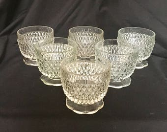 Diamond Point Footed Sherbet Dishes Indiana Glass Diamond Point Sherbet Dishes Set of Six