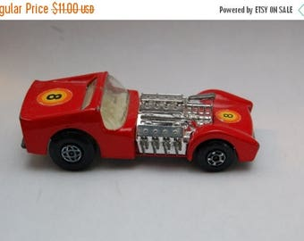 LIQUIDATION SALE MATCHBOX Superfast #19 Road Dragster Red Made in England by Lesney 1970's toy collection