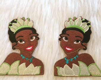 Princess Tiana Iron On Patch/ Princess Tiana Applique