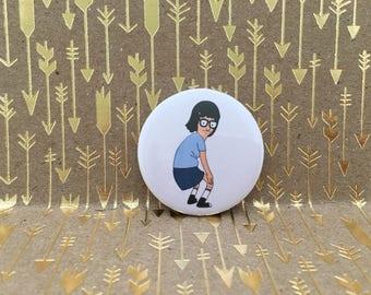 Tina Belcher, Bobs Burgers Button1.5 inch pin back button, 37 mm pin back button