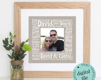 Personalised BOYFRIEND GIFT - Word Art Gift - Printable Gift - Husband Gift - Fiancé Gift - Gift for Him - Mens Gift - Personalised Gifts