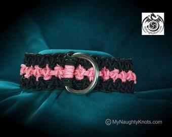 Pink and Black BDSM Princess, Kitten, Slave Collar