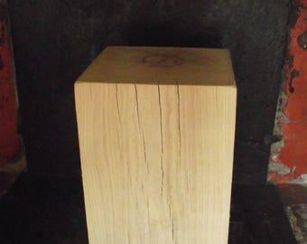 Bedside side table end table oak 25 X 25 X 40 cm