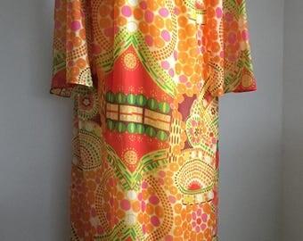 Vintage 1960'S Hippy Style Maxi Dress by Grace Taylor Original.