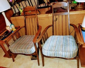 Pair of Mid Century Modern  Lounge Livingroom Chairs in the style of Adrian Pearsall Vintage Circa 1960's