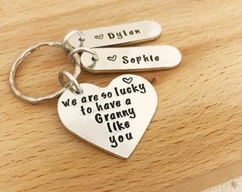 personalised Granny keyring, Granny keychain, gifts for granny, granny gift, personalized granny gifts, gran, new gran, great granny keyring