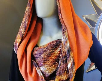 Sparkly Fall Color Festival Infinity Scarf