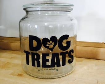 Dog Treat Jar, Treat Jar, Dog Treat Holder, Cookie Jar for Dog, Dog Treat Container, Dog Treat Storage, Pet Treats, Dog Lover, Pet Feeding