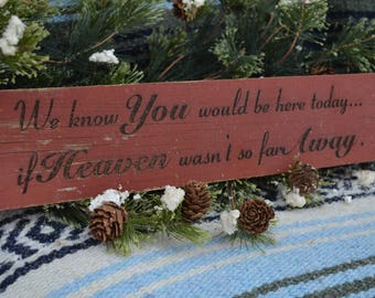 We know you would be here today... if heaven wasn't so far away.