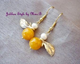 """Earrings """"Crisp Fruit"""" - jade"""