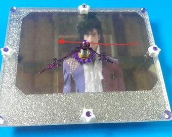 Handmade Acrylic Prince Wall Clock, Functional Art, Prince, Purple Rain, 1980s Pop Music, Acrylic Clock, Made By Mod.