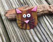 Fused Glass Cat / Cat Ornament / Crazy Cat Lady Gift