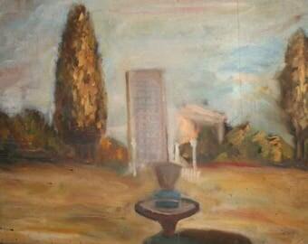 European art impressionist oil painting landscape cityscape park