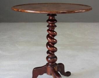 Mahogany Round Tripod Table