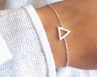 Fine bracelet, chain, triangle Sterling Silver 925/000 - sterling silver mesh bangle