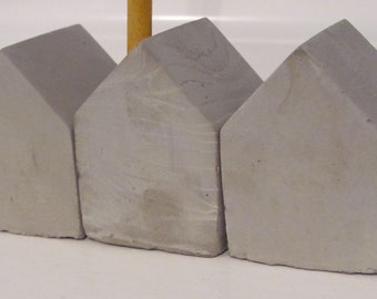Concrete Pen Pencil Holder House, Storage & Organisation, Stationery lover gift, Office Accessory, Mid-century Modern, incense holder,