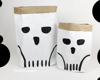 Halloween skulls- paperbag