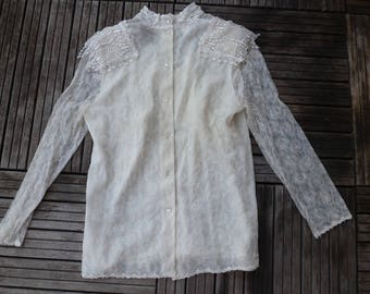 Edwardian lace shirt