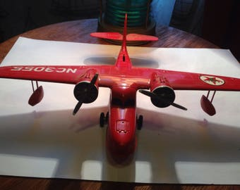 Texaco Red Diecast NC3055 Metal Plane