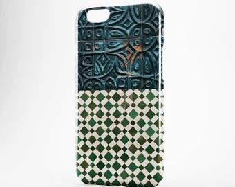 Green Tile iPhone 8 Plus Case iPhone X Case Phone Cover iPhone 7 Plus iPhone 6 Plus Case iPhone 7/8 iPhone SE Case iPhone 5 Case Galaxy S8