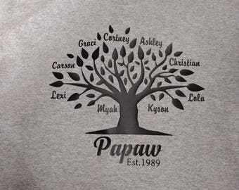 Gray short sleeve family tee shirt