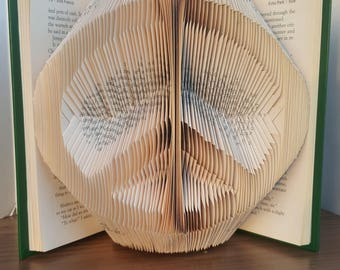Peace Symbol - Folded Book Art - Fully Customizable, peace, love