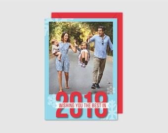 Printable Holiday Card - Snowflakes