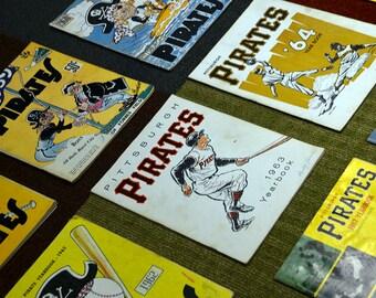 Vintage Pittsburgh Pirates Yearbooks - 50s thru 70s