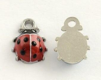 Ladybird Enamel Charms Pendants (001)