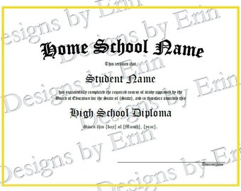Customized Homeschool Diploma