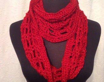 Sparkly Red Scarf