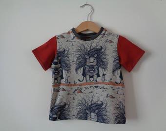 T-shirt boy Monster pattern
