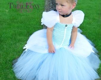 Princess Costume, Cinderella Tutu Dress, Cinderella Dress, Cinderella Costume, Cinderella Tutu, Princess Costume, Cinderella Birthday Outfit