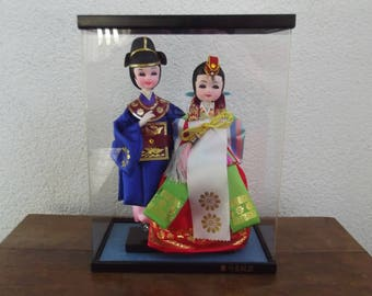 Traditional South korean dolls, folklore clothing dolls