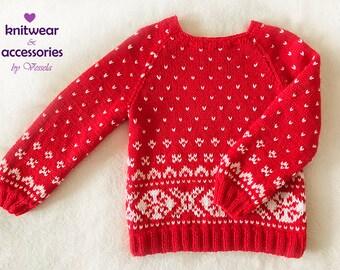 Wool Sweater Icelandic Sweater Nordic Kids Christmas Sweater Knit Kids Wool
