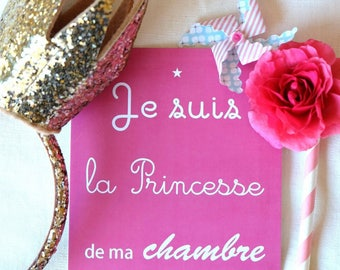Carte Postale - Je suis la princesse de ma chambre