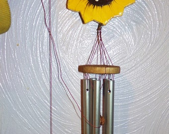 Sunflower wind chimes