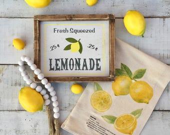 Lemonade Sign Summer Sign Signs Lemonade Lemon Decor Farmhouse Decor