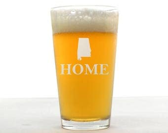 Custom Pint Glass - Home Pint Glass - Etched Pint Glass - Custom Pint Glass - Pint Glass - Personalized Pint Glass