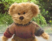 Teddy Bear Clothes Hand Knitted Multi Coloured SweaterJumper To Fit A 14 Inch Bear Dolls Clothes Clothes For Dolls Ready To ShipPost