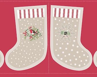 Christmas Panel - Christmas stocking 110cm