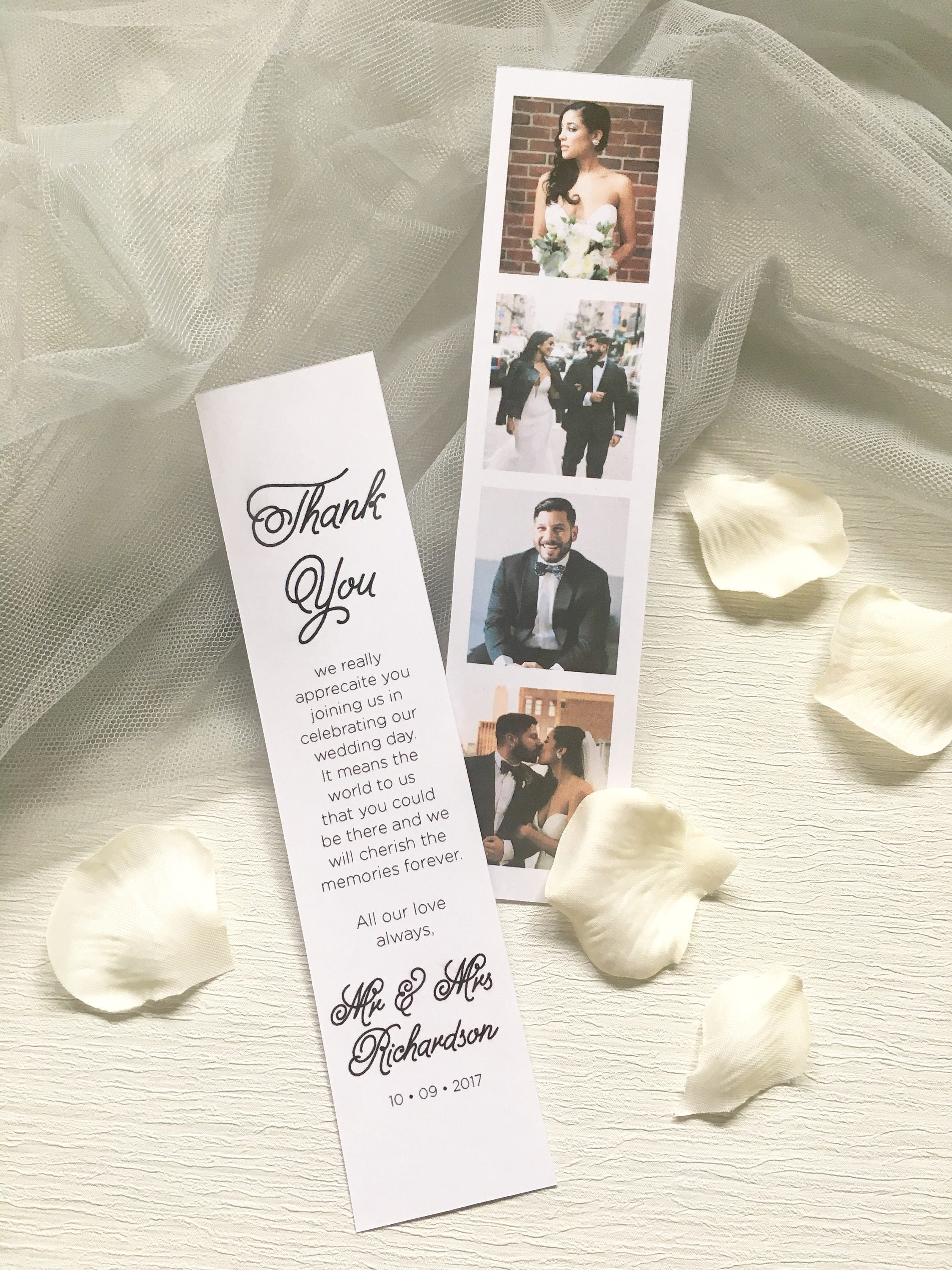 Olivia Polaroid Photo Booth Wedding Thank You Card With Personalised