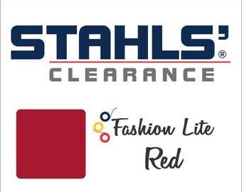 "12"" x 15"" - 15 Craft Sheets - Stahls' Fashion Lite - Smooth – Iron-on - Heat Transfer Vinyl - HTV - Red"