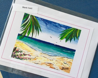 Blank Note Cards, Colourful Designs by Artist Janice Brown, Cayman Islands