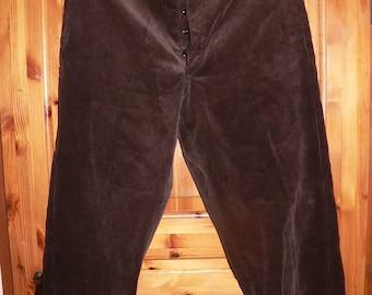 NOS dark brown corduroy trousers 1930-50 style size EU 52/54  deadstock